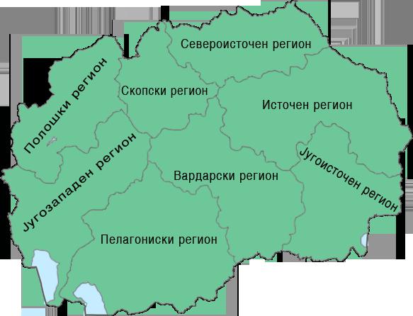 Мапа на дефектолози во Република Македонија